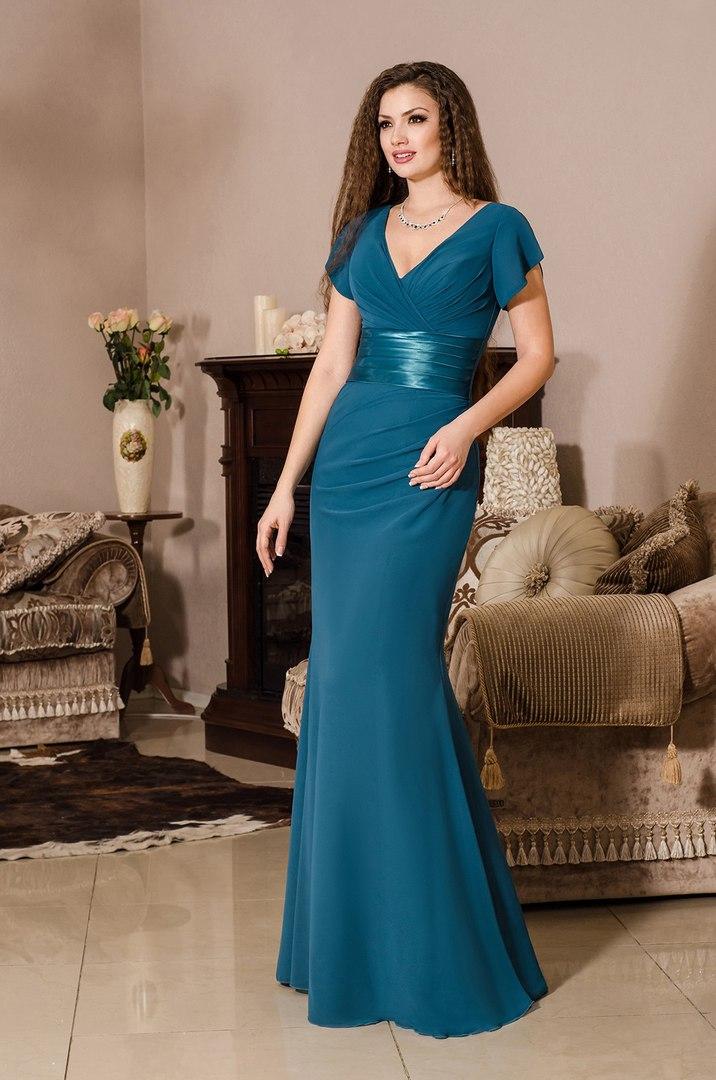 Вечернее платье V. Karandasheva dark-blue Донецк